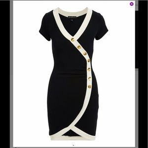 🖤🤍🖤 Two-Tone Wrap Look Dress 🖤🤍🖤